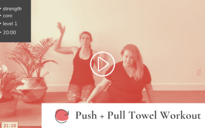 """Push and Pull"" Glider/Towel Workout"