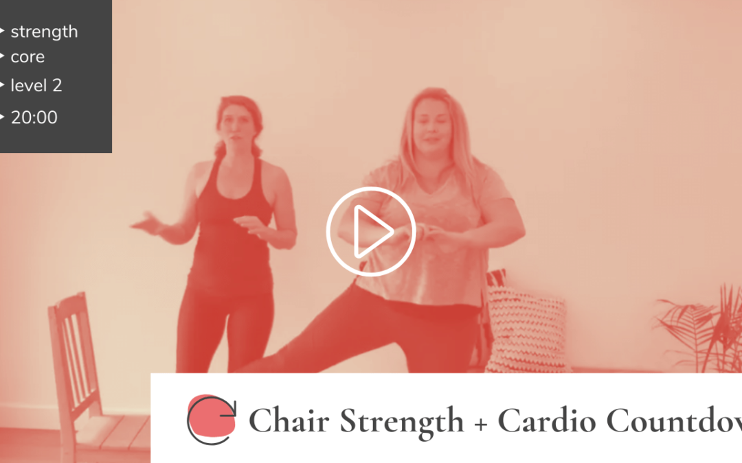 Chair Strength + Cardio Countdown